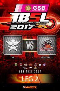 LEG 2 TGE - Raptors ไทยเครื่องสนาม VS ดังกิ้น แรพเตอร์ คู่ที่ 5 25/2/17