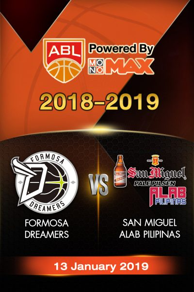 Formosa Dreamers VS San Miguel Alab Pilipinas ฟอร์โมซ่า ดรีมเมอร์ส VS ซาน มิเกล อาลับ พิลิพินาส