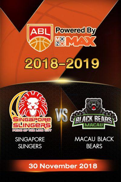 Singapore Slingers VS Macau Black Bears SingaporeSlingersVSMacauBlackBears