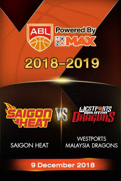 Saigon Heat VS Westports Malaysia Dragons ไซ่ง่อนฮีต vs เวสต์พอร์ท มาเลเซีย ดราก้อน
