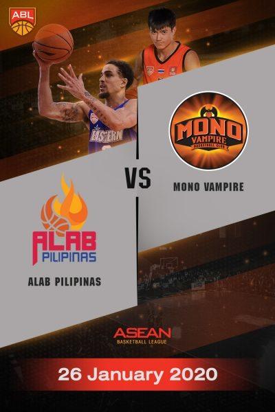 ABL 2019-2020 - Alab Pilipinas VS Mono Vampire Basketball Club (26-01-20) ABL 2019-2020 - อาลับ พิลิพินาส VS โมโน แวมไพร์ (26-01-20)