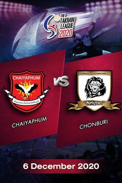 The Takraw League 2020 Chaiyaphum VS Chonburi การแข่งขันตะกร้อไทยแลนด์ลีก 2563 ชัยภูมิ VS ชลบุรี (6 ธ.ค.63)