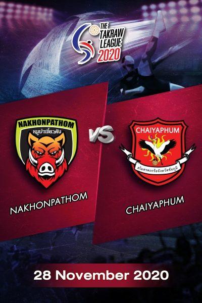 The Takraw League 2020 Nakhonpathom VS Chaiyaphum การแข่งขันตะกร้อไทยแลนด์ลีก 2563 นครปฐม VS ชัยภูมิ (28 พ.ย.63)
