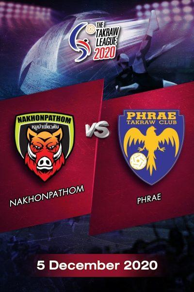 The Takraw League 2020 Nakhonpathom VS Phrae การแข่งขันตะกร้อไทยแลนด์ลีก 2563 นครปฐม VS แพร่ (5 ธ.ค.63)
