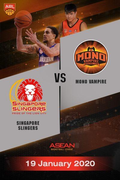 ABL 2019-2020 - Singapore Slingers VS Mono Vampire Basketball Club (19-01-20) ABL 2019-2020 - สิงคโปร์ สลิงเกอร์ส VS โมโน แวมไพร์ (19-01-20)